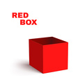 Open Red Box Isolated on White Background vector image vector image