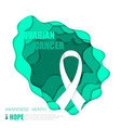 ovarian cancer background vector image
