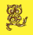 owl bird ornament vector image vector image
