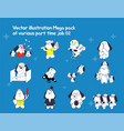 part-time jobs represented by dog character vector image vector image