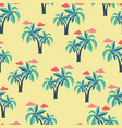 pattern with palm trees and clouds vector image vector image