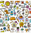 pet shop background for your design vector image vector image