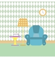 reading room and recreation flat color vector image vector image