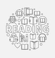 reading round line vector image vector image