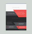 red and black business brochure design template vector image vector image