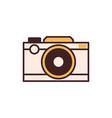retro film camera icon vector image