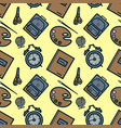 seamless pattern with colorful school icons on vector image vector image