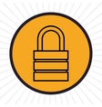Security padlock inline icon vector image