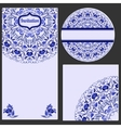 Set invitations cards with a beautiful pattern in vector image vector image