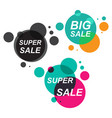 set of the sale stickers in flat style modern vector image