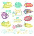 set summer signs banners party vector image vector image