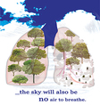 Social poster about the nature and the air vector image
