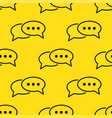 speech bubble seamless pattern vector image vector image