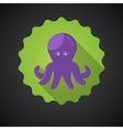 Summer Travel Sea Octopus Squid flat icon vector image vector image