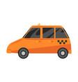 taxi car yellow automobile public transport vector image vector image