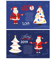 warm wishes greeting card 2019 new year holiday vector image vector image