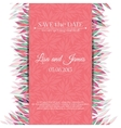 Wedding invitation template Save the date vector image vector image