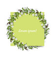 white campion flowers round wreath on white vector image vector image