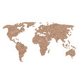 world map mosaic of puppy icons vector image
