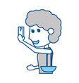 young woman with smartphone cartoon vector image