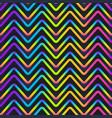 zigzag neon geometric seamless pattern vector image vector image