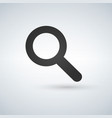 magnifying glass icon magnifier or loupe vector image