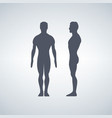man s figure silhouettes vector image