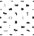 photographic icon pattern eps10 vector image