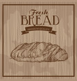 fresh bread hand drawn food products premium vector image