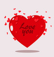 valentine day heart clean clipart vector image