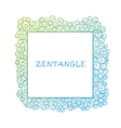 Hand drawn zentangle document template vector image