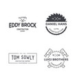 construction company logo or label template vector image
