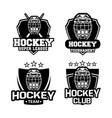 1804-hockey badge helm 11-df vector image