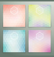 Abstract hexagon background set vector image vector image