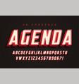 agenda display font design alphabet typeface vector image vector image