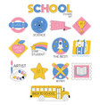 back to school set collection stickers vector image vector image