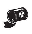 black radioactive waste icon vector image vector image