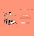 blogging - line design style isometric web banner vector image