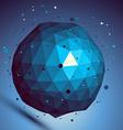 Blue spatial digital lattice backdrop dimensional vector image vector image