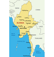 Burma - map vector image