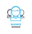 businesswoman concept outline icon linear sign vector image vector image