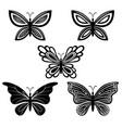 butterflies pictograms vector image vector image