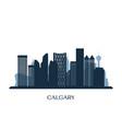 calgary skyline monochrome silhouette vector image vector image