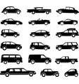 cars silhouettes collection simple icons vector image