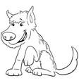 cartoon shaggy dog animal character color book vector image vector image