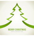Christmas green tree from ribbon vector image vector image