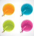 colorful lollipops vector image vector image