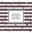 cute pattern with golden stars hearts and stripes vector image