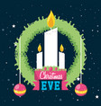 decorative candle with crown of christmas vector image