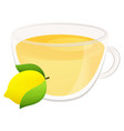 delicious natural tea with lemon in a beautiful vector image vector image